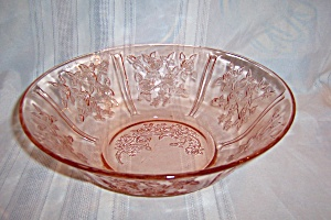 Pink Sharon Depression Berry Bowl