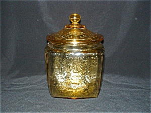 Amber Madrid Covered Cookie Jar