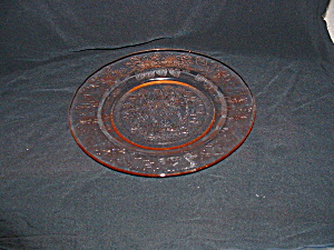PINK DOGWOOD DEPRESSION DINNER PLATE (Image1)
