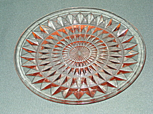 PINK WINDSOR DEPRESSION DINNER PLATE (Image1)
