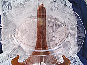 PINK AMERICAN SWEETHEART OVAL PLATTER (Image1)