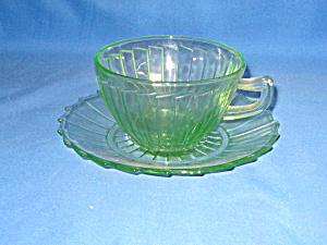 GREEN SIERRA DEPRESSION CUP & SAUCER SET (Image1)