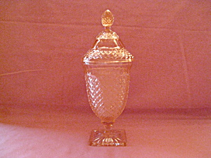 PINK MISS AMERICA COVERED CANDY DISH (Image1)