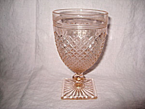 PINK MISS AMERICA WATER GOBLET (Image1)