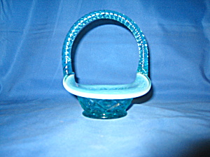 Fenton Mini Cape Cod Basket Robin's Egg Blue
