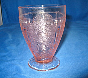 Pink Cherry Blossom Scalloped Footed Tumbler
