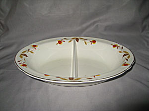 HALL AUTUMN LEAF OVAL DIVIDED VEGETABLE BOWL (Image1)