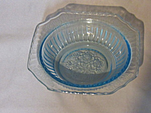 Blue Mayfair Depression Glass Cereal Bowl