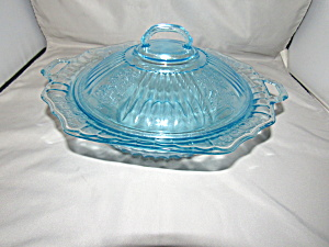 Blue Mayfair Covered Vegetable Bowl
