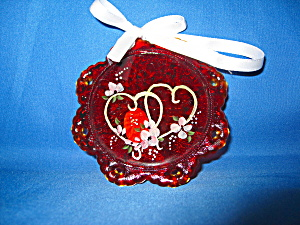 Fenton Tlc Antiques Two Hearts On Ruby Suncat