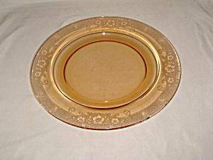 HTF AMBER FOSTORIA VESPER DINNER PLATE     (Image1)