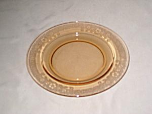 AMBER FOSTORIA VESPER BREAD PLATE    (Image1)