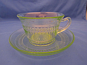 GREEN ROULETTE CUP & SAUCER   (Image1)