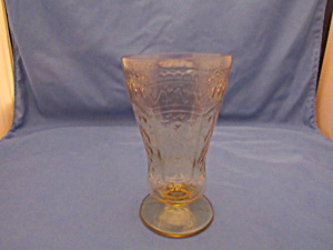 AMBER PATRICIAN FOOTED TALL ICE TEA TUMBLER   (Image1)