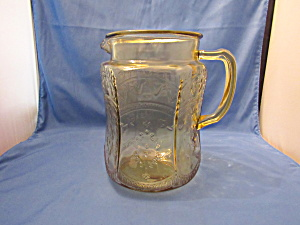AMBER PATRICIAN MOULDED HANDLED PITCHER    (Image1)