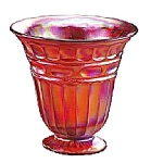 Click here to enlarge image and see more about item 4179UR: 5 3/4'' Red Stretch Heritage Vase
