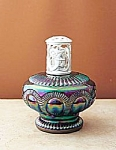 Click here to enlarge image and see more about item 54403: 6 1/2'' Fenton La-Tee-Da Zipper Aubergine