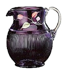Click here to enlarge image and see more about item 6667JN: Fenton Vision on Aubergine Adam's Rib Pitcher