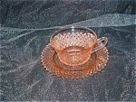 Click here to enlarge image and see more about item C3127: PINK MISS AMERICA CUP & SAUCER