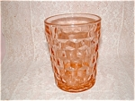 Click here to enlarge image and see more about item C3227: RARE PINK CUBE DEPRESSION TUMBLER