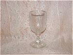 Click here to enlarge image and see more about item C3345: IRIS & HERRINGBONE 3 oz WINE GOBLET