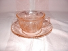 Click to view larger image of PINK SHARON CABBAGE ROSE CUP & SAUCER (Image3)