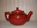 Click here to enlarge image and see more about item C627: HALL MAROON BOSTON TEAPOT