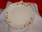 "Click here to enlarge image and see more about item C645: HALL AUTUMN LEAF 10"" DINNER PLATE"