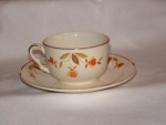 Click here to enlarge image and see more about item C701:  HALL AUTUMN LEAF RUFFLE D COFFEE CUP/ SAUCER