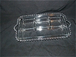 Click here to enlarge image and see more about item C765: CANDLEWICK 4 PART TAB HANDLED RELISH DISH