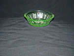 Click here to enlarge image and see more about item CA3073: GREEN COLONIAL KNIFE & FORK BERRY BOWL