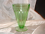 Click here to enlarge image and see more about item CA3087: RARE GREEN ADAM DEPRESSION ICE TEA TUMBLER