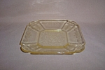 Click here to enlarge image and see more about item CA3220: YELLOW LORAIN BASKET SHERBET PLATE