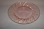 Click here to enlarge image and see more about item CA3239: PINK SWIRL DEPRESSION DINNER PLATE