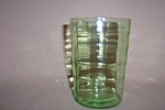 Click here to enlarge image and see more about item CA3244:  GREEN BLOCK OPTIC 12 OZ FLAT TUMBLER
