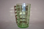 Click here to enlarge image and see more about item CA3245: GREEN BLOCK OPTIC 5 OZ FLAT TUMBLER