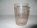 Click here to enlarge image and see more about item CA3333: PINK MAYFAIR FLAT WATER TUMBLER