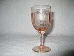Click here to enlarge image and see more about item CA3339: RARE PINK MAYFAIR WINE GOBLET