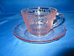 Click here to enlarge image and see more about item CA3343: AMERICAN SWEETHEART PINK CUP & SAUCER