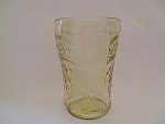 AMBER PATRICIAN DEPRESSION FLAT WATER GLASS