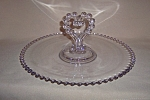 Click here to enlarge image and see more about item CA7202: CANDLEWICK HEART HANDLED PASTRY TRAY