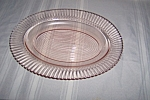 Click here to enlarge image and see more about item CM3006: PINK PETALWARE LARGE OVAL PLATTER