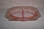PINK ADAM DEPRESSION DIVIDED RELISH DISH