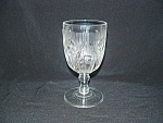 Click here to enlarge image and see more about item CM3072: IRIS & HERRINGBONE WATER GOBLET