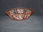 Click here to enlarge image and see more about item CM315: PINK SHARON LARGE FRUIT BOWL