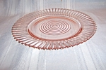Click here to enlarge image and see more about item CM3191: PINK PETALWARE SALAD PLATE