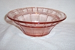 PINK DORIC DEPRESSION LARGE BERRY BOWL