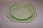 Click here to enlarge image and see more about item CM3226: GREEN PRINCESS SALAD PLATE