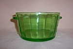 Click here to enlarge image and see more about item CM3353: GREEN BLOCK OPTIC ICE BUCKET / BUTTER TUB