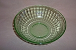 Click here to enlarge image and see more about item CM3355: GREEN BLOCK OPTIC LARGE BERRY BOWL